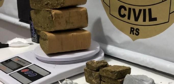 PC PRENDE HOMENS POR TRÁFICO DE DROGAS E ASSOCIAÇÃO PARA O TRÁFICO