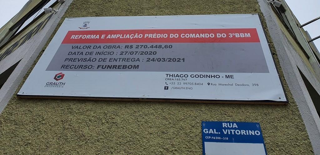REFORMA DO PRÉDIO DO COMANDO DO 3º BBM É REALIZADA COM RECURSOS DO FUNREBOM