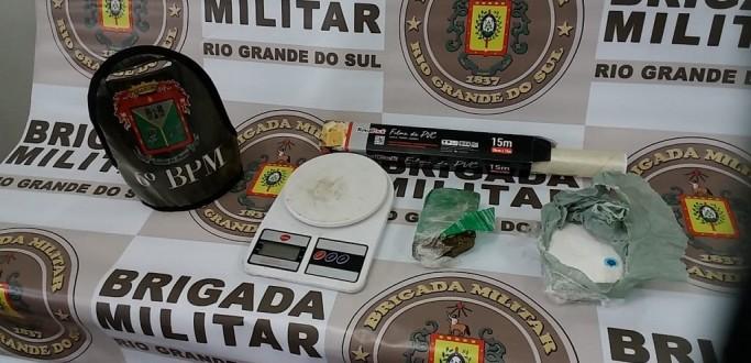 BM LOCALIZA MOCHILA COM DROGAS NA VILA JACINTO, EM SANTA VITÓRIA DO PALMAR