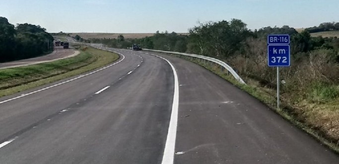 MAIS 9,7 KM DE PISTA DUPLICADA NA BR 116 SÃO LIBERADOS NESTA TERÇA-FEIRA