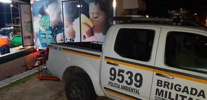 PATRAM E IBAMA APREENDEM 700 KG DE POLVO PESCADOS DE FORMA IRREGULAR EM RG