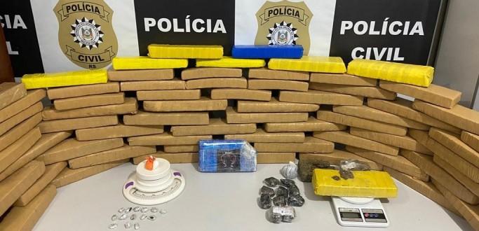 DRACO APREENDE 56 KG DE DROGAS EM AÇÕES NOS BAIRROS RECREIO E PROFLURB I