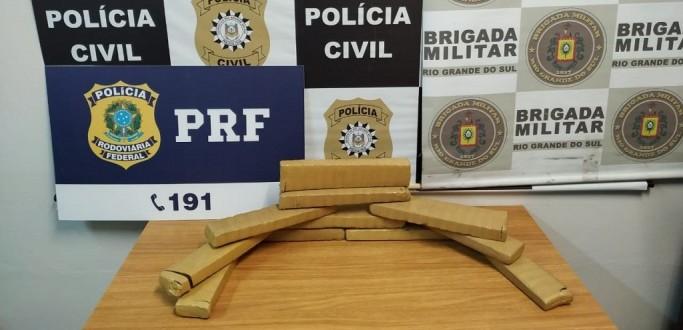 EM AÇÃO CONJUNTA, PRF, BM E DRACO PRENDEM HOMEM COM 10 KG DE MACONHA NA BR 116