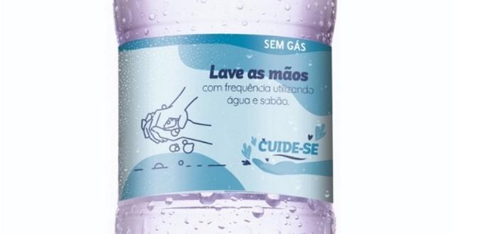 ÁGUA DA PEDRA LANÇA COLEÇÃO DE RÓTULOS COM DICAS DE PREVENÇÃO A COVID-19