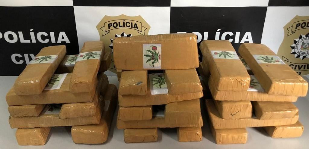 POLÍCIA CIVIL APREENDE 27 KG DE MACONHA NO BAIRRO BUCHOLZ