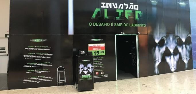 NOVA ATRAÇÃO DO PARTAGE SHOPPING DESAFIA A CORAGEM DOS VISITANTES
