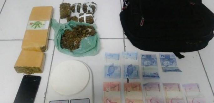 HOMEM É PRESO POR TRÁFICO DE DROGAS NO BAIRRO JUNÇÃO