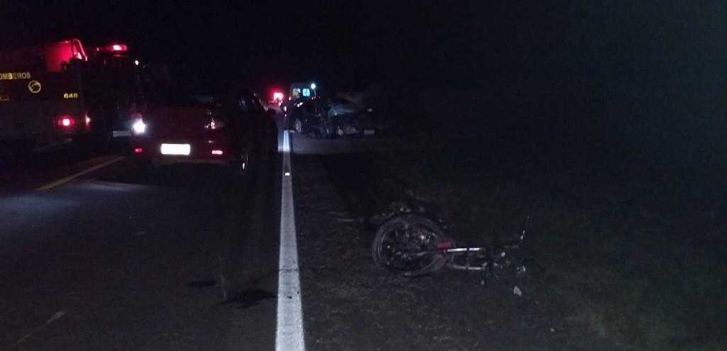 MOTOCICLISTA MORRE EM COLISÃO COM AUTOMÓVEL NA BR 471, EM SVP
