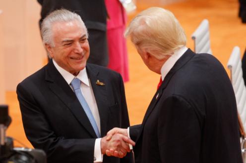 TRUMP ELOGIOU ECONOMIA DO BRASIL, DIZ TEMER NO TWITTER